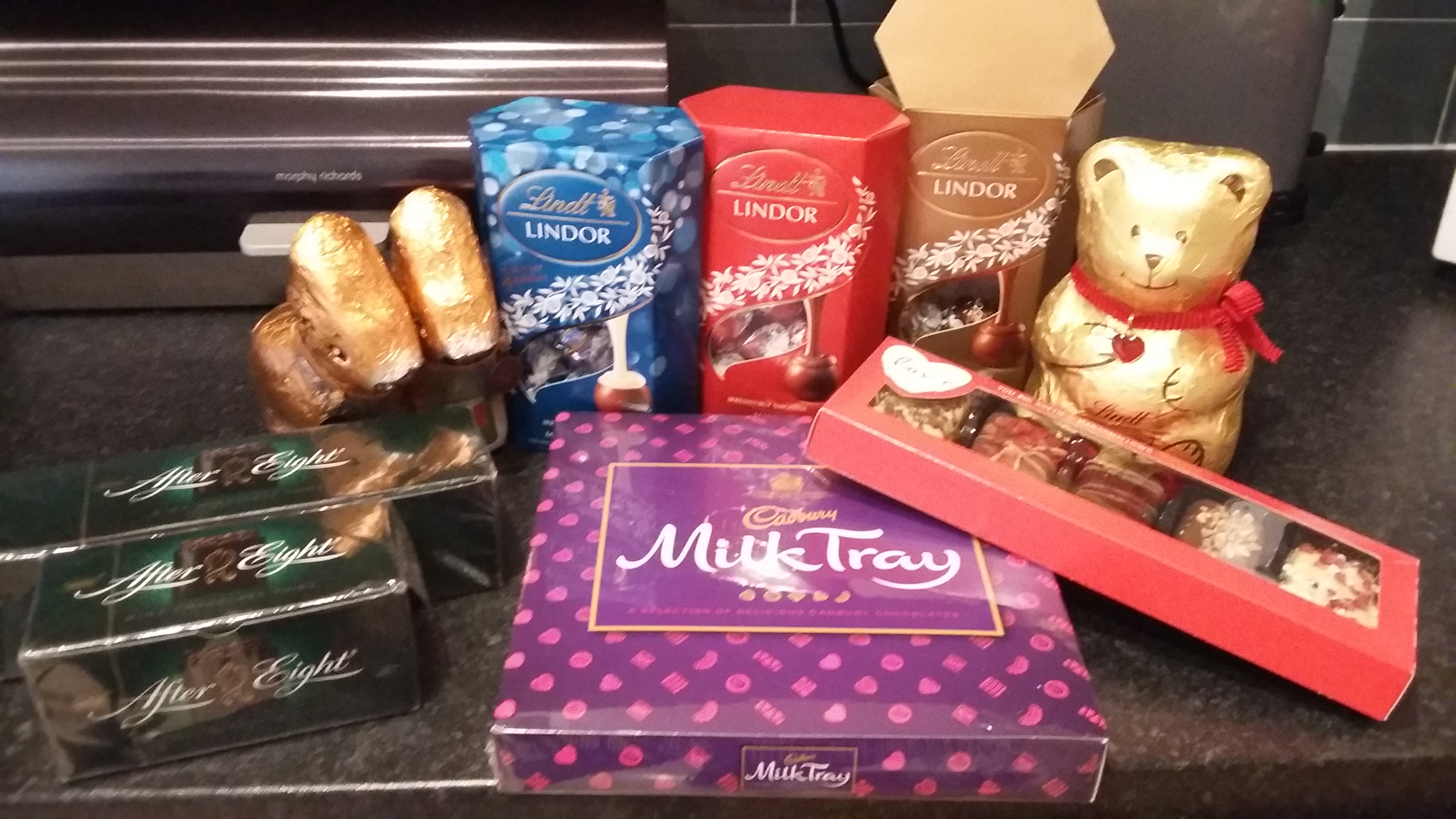 My Christmas chocolate stash